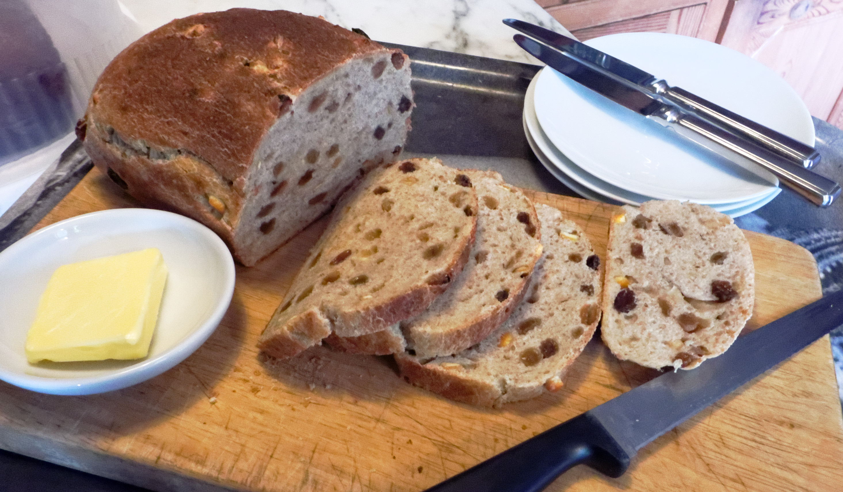 Apple and Cider Sourdough in the style of a Tea Loaf